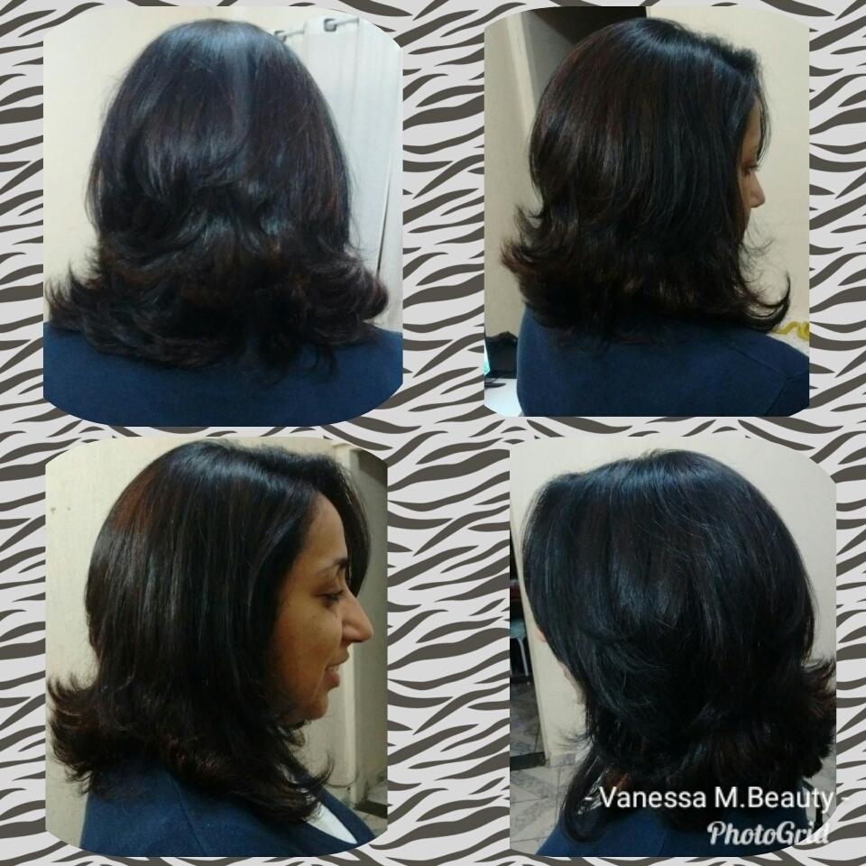 Corte e mechas tom sobre tom cabelo auxiliar cabeleireiro(a) designer de sobrancelhas