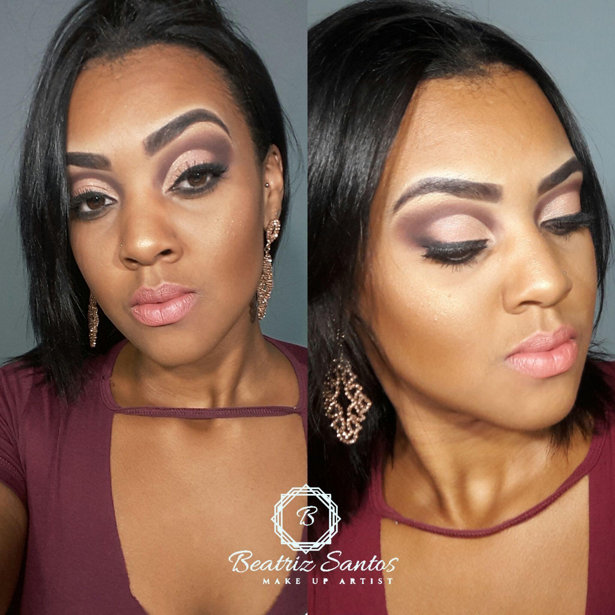 Cut crease rosê maquiagem maquiador(a)