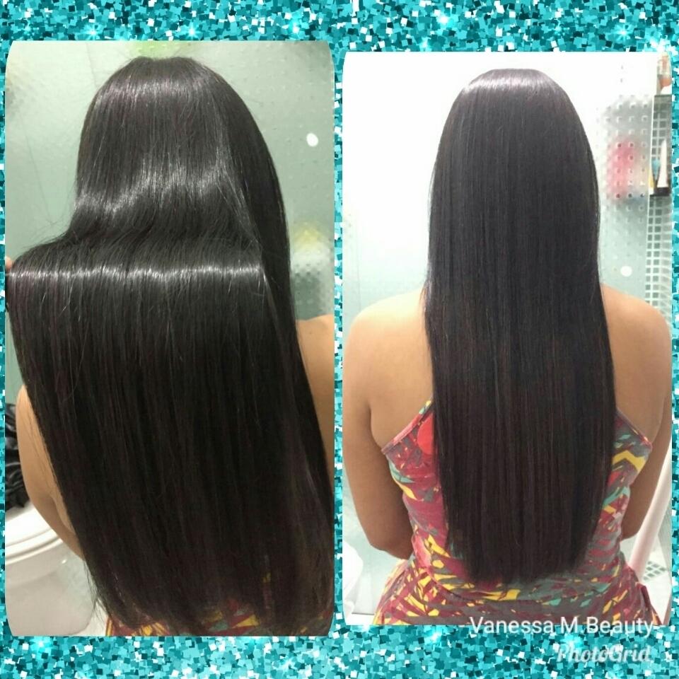 Escova progressiva sem formol com matização Black cabelo auxiliar cabeleireiro(a) designer de sobrancelhas
