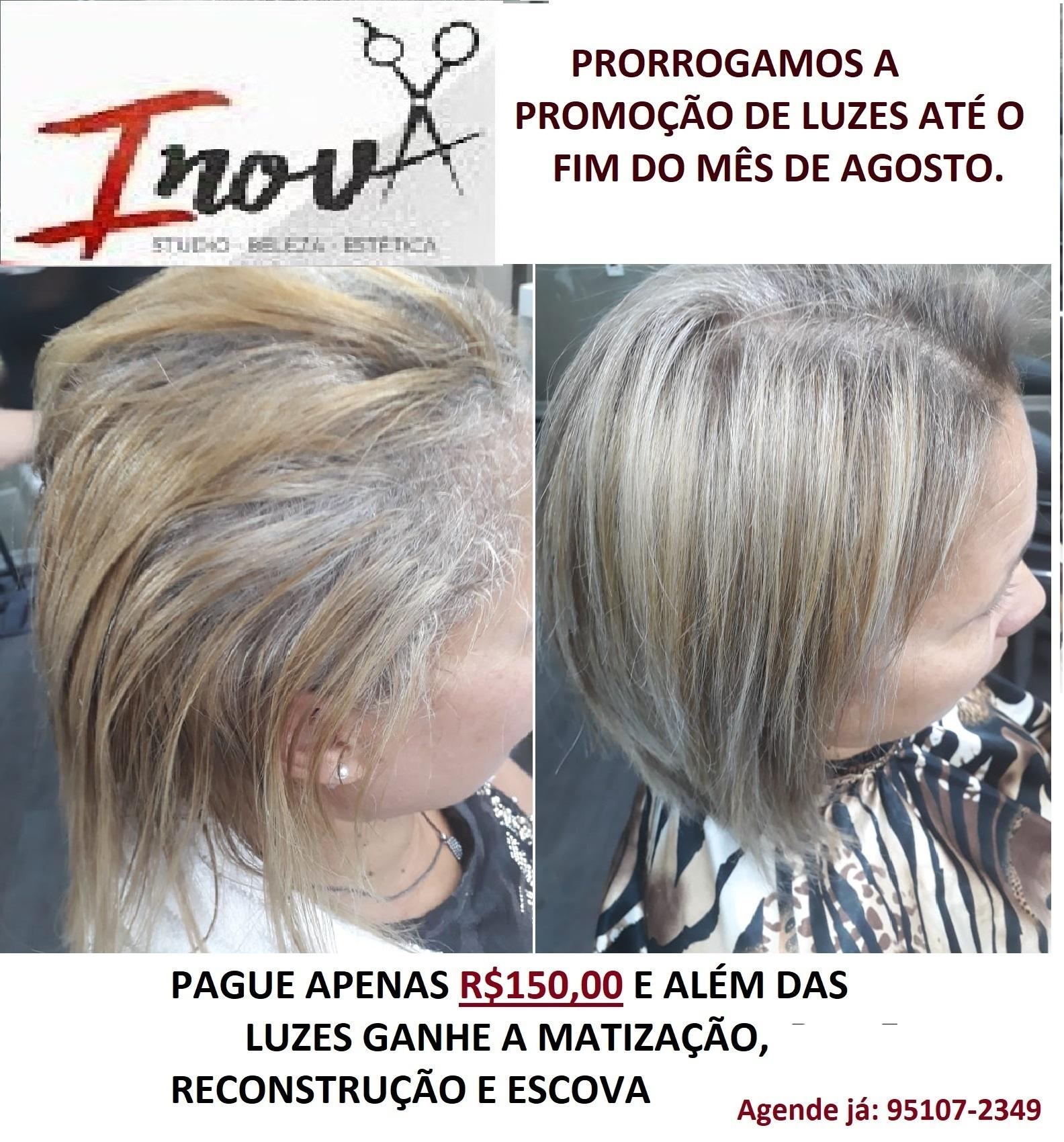 antes e depois LUZES cabelo cabeleireiro(a)