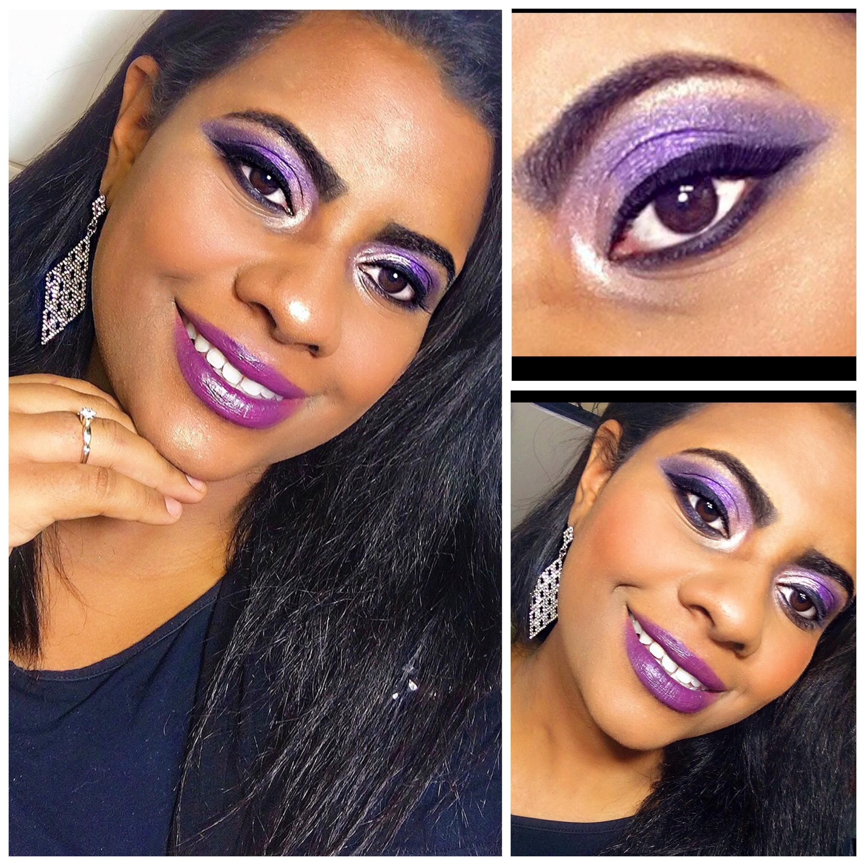 Make Roxa, especialmente para peles negras , e ocasiões especiais . maquiagem esteticista assistente esteticista estudante (esteticista)