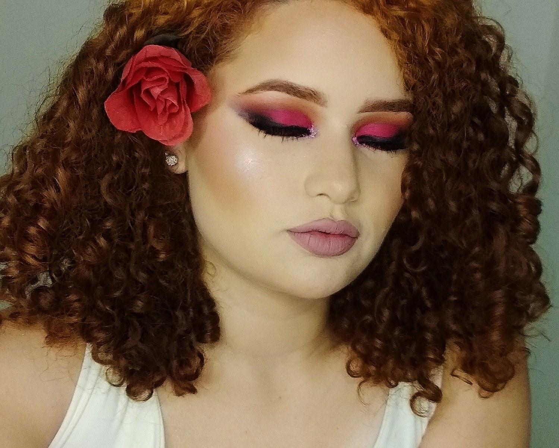 Proposta de make inspirado nas rosas 🥀 maquiagem maquiador(a) designer de sobrancelhas