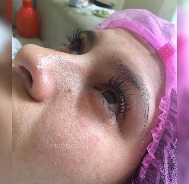 Extensão de cílios fio a fio 🦋 olhar marcante! estética esteticista designer de sobrancelhas biomédico(a)