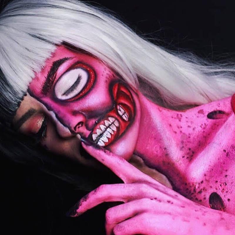 #halloween maquiagem maquiador(a) designer de sobrancelhas cabeleireiro(a)
