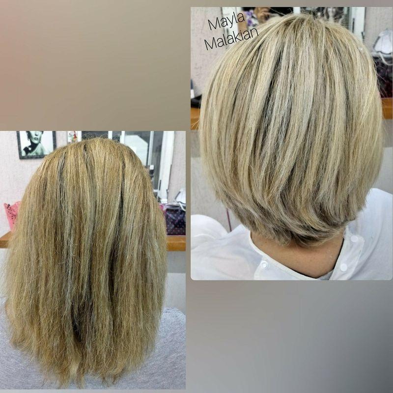 Luzes e corte cabelo cabeleireiro(a) designer de sobrancelhas maquiador(a)