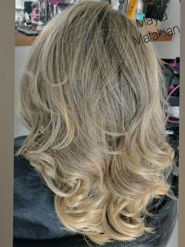 Luzes cabelo cabeleireiro(a) designer de sobrancelhas maquiador(a)