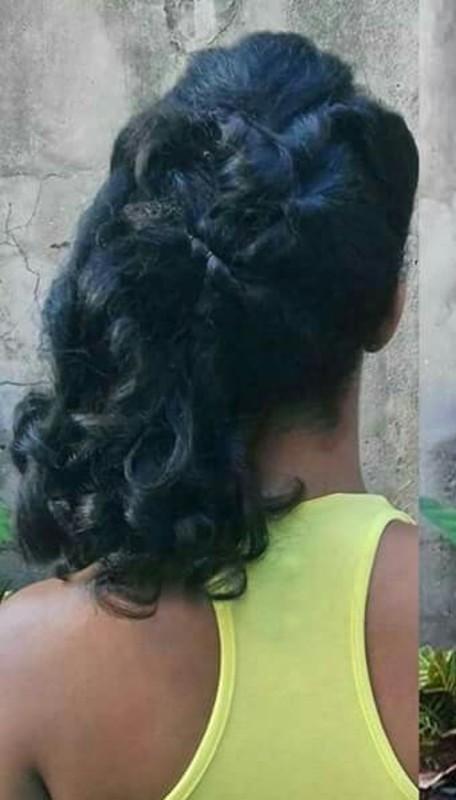 Penteado madrinha 🌸 cabelo maquiador(a) designer de sobrancelhas cabeleireiro(a) escovista depilador(a)