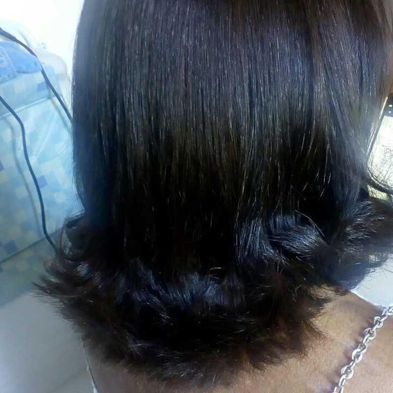 Escova com corte repicado !  cabelo cabeleireiro(a) auxiliar cabeleireiro(a)