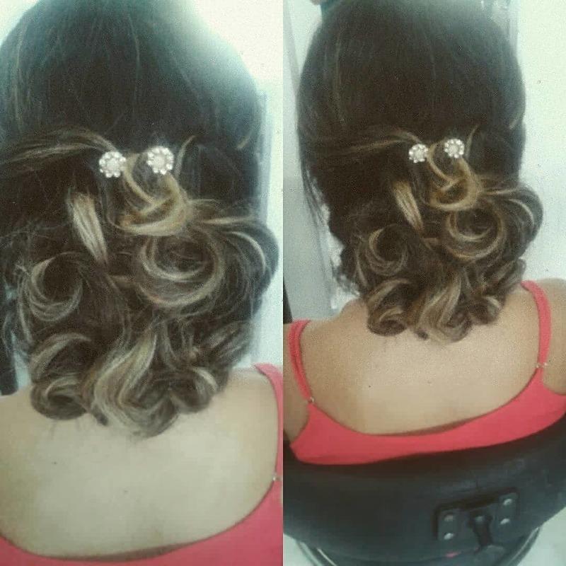 Penteado  cabelo cabeleireiro(a) auxiliar cabeleireiro(a)