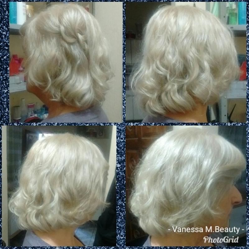 Matização e finalização com mousse e secagem com difusor cabelo auxiliar cabeleireiro(a) designer de sobrancelhas