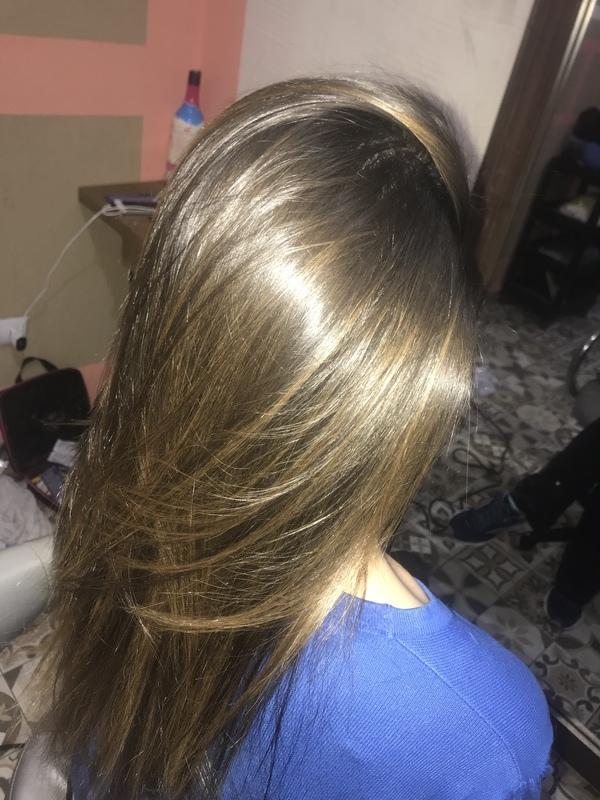 Minha morena iluminada  cabelo auxiliar cabeleireiro(a) cabeleireiro(a)