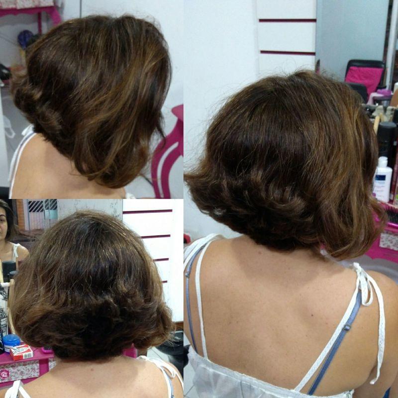 Coloração e corte de cabelo. cabelo cabeleireiro(a) maquiador(a) escovista designer de sobrancelhas depilador(a)