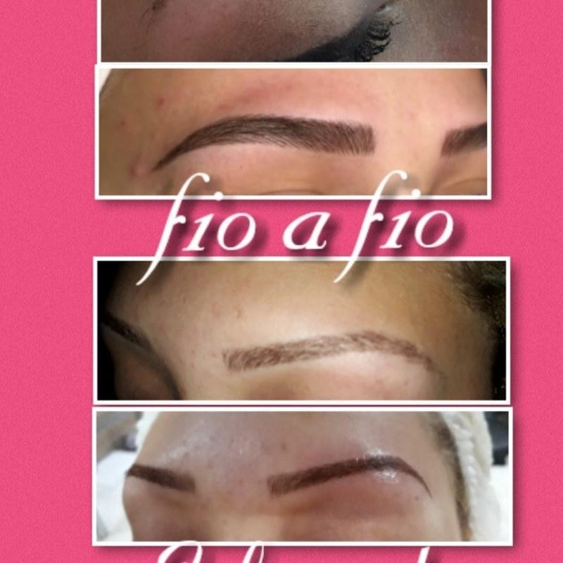 Sobrancelha  fio a fio  Sobrancelha esfumada  estética cabeleireiro(a) designer de sobrancelhas micropigmentador(a)
