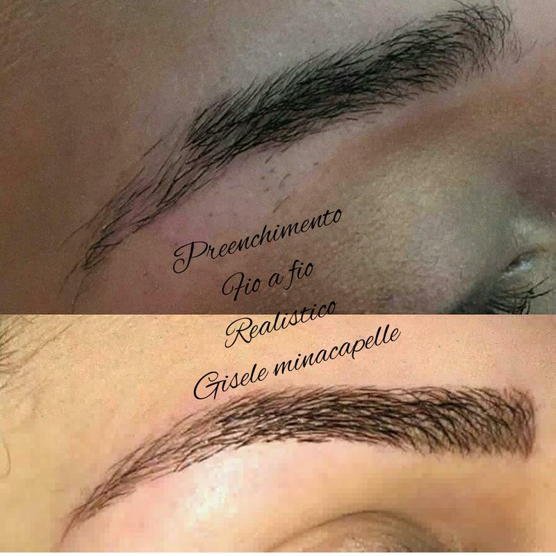 Preenchimento fio a fio  estética cabeleireiro(a) designer de sobrancelhas micropigmentador(a)