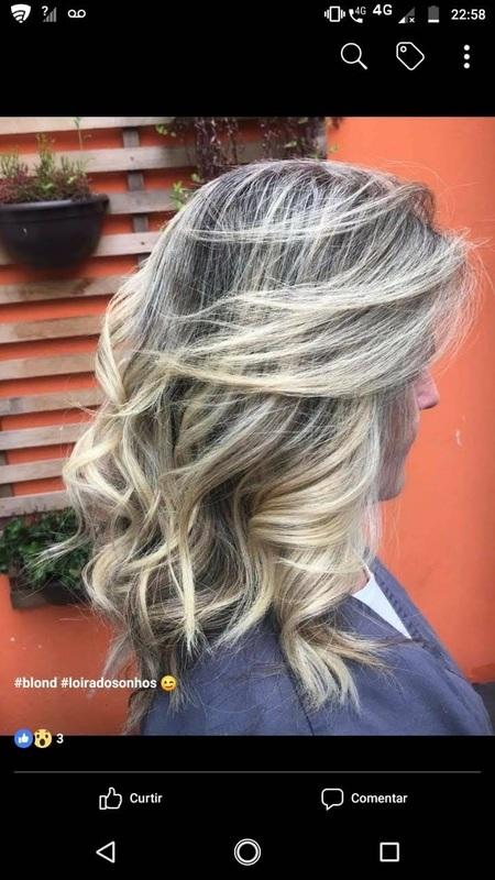 Loira blond ,mechas bem definidas. cabelo cabeleireiro(a)