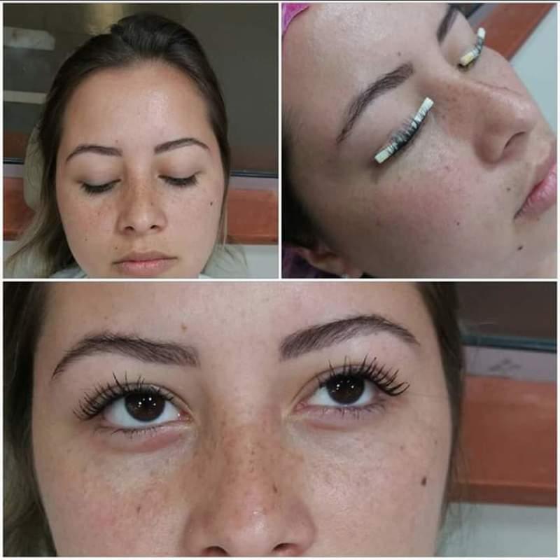 Permanente de cílios  estética cabeleireiro(a) designer de sobrancelhas micropigmentador(a)