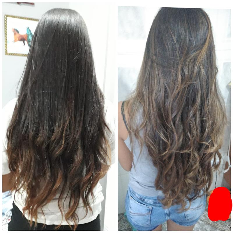 Morena iluminada 😍😍 cabelo auxiliar cabeleireiro(a) escovista recepcionista