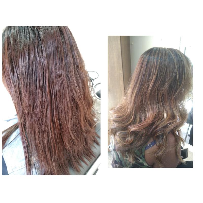 Correção de cor se ela amor😍 então estou aprovada cabelo auxiliar cabeleireiro(a) escovista recepcionista