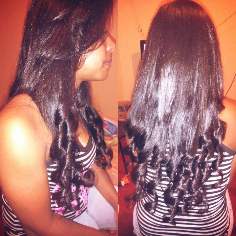 Escova depois de coloca o alongamento cabelo auxiliar cabeleireiro(a)
