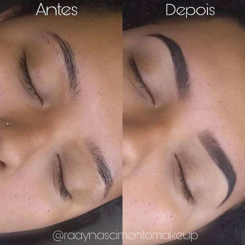 Design e preenchimento com sombra. maquiador(a) designer de sobrancelhas