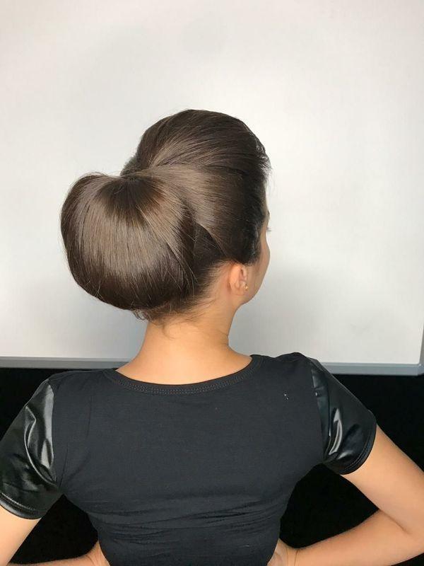 Coque clássico bola cabelo cabeleireiro(a)