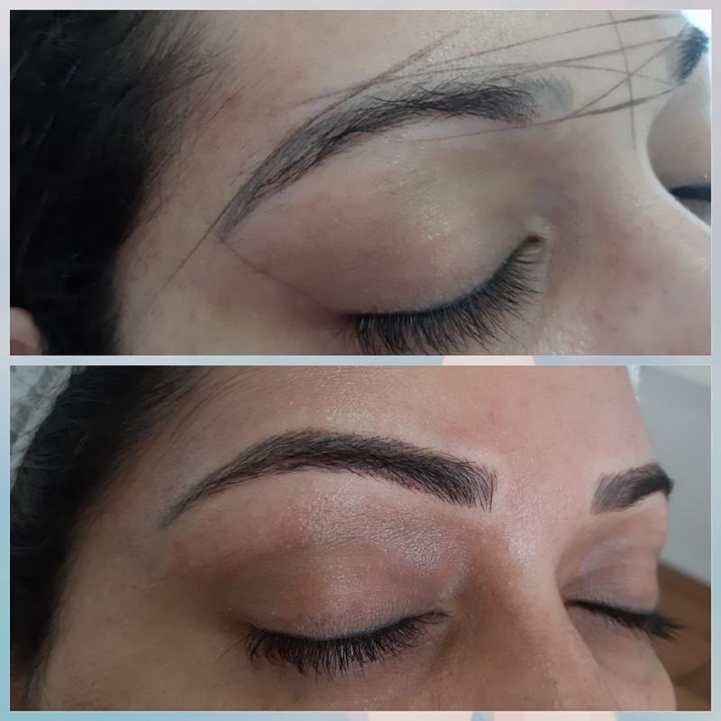 Ombré Shadow com correção de procedimento anterior😍  outros designer de sobrancelhas maquiador(a) micropigmentador(a)