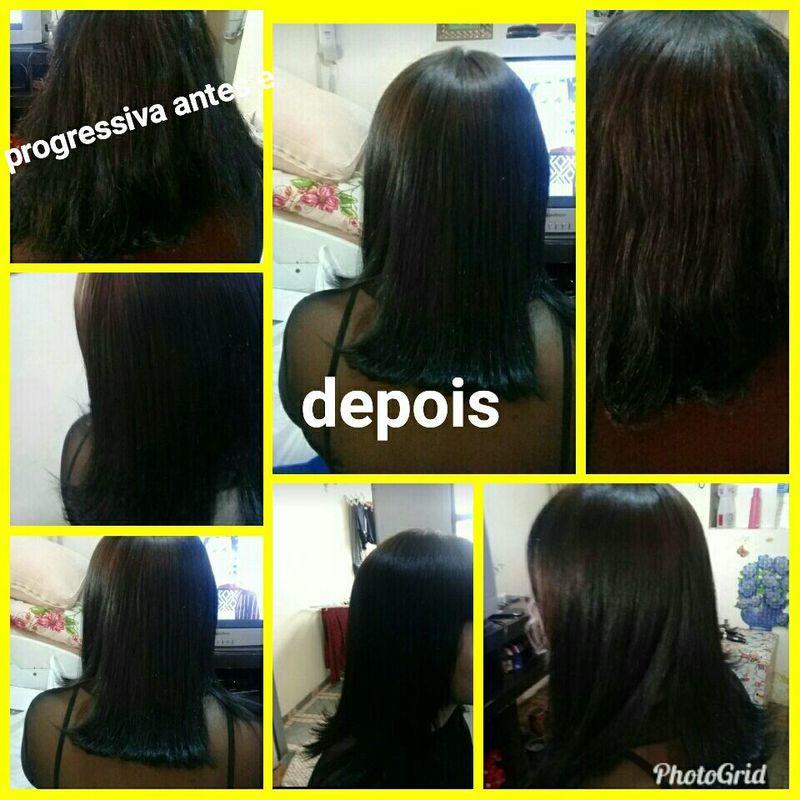 Progressiva antes e depois auxiliar cabeleireiro(a)