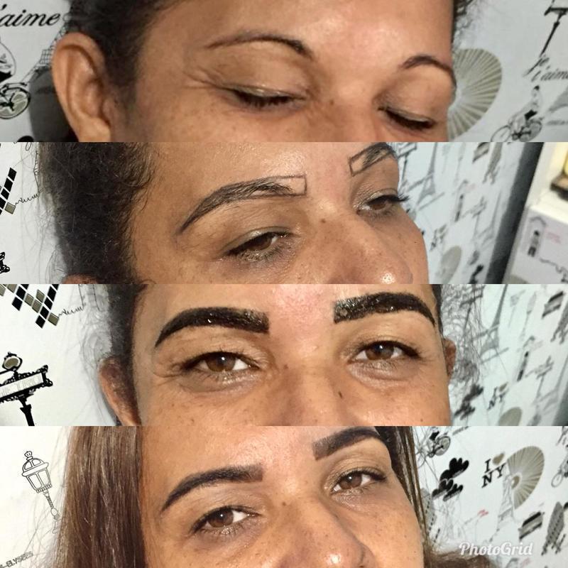Design de sobrancelhas com retirada de pelos com pinça e correção com hena. 😍 outros designer de sobrancelhas
