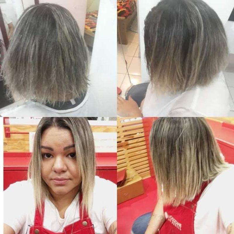 Escova e corte cabelo auxiliar cabeleireiro(a)