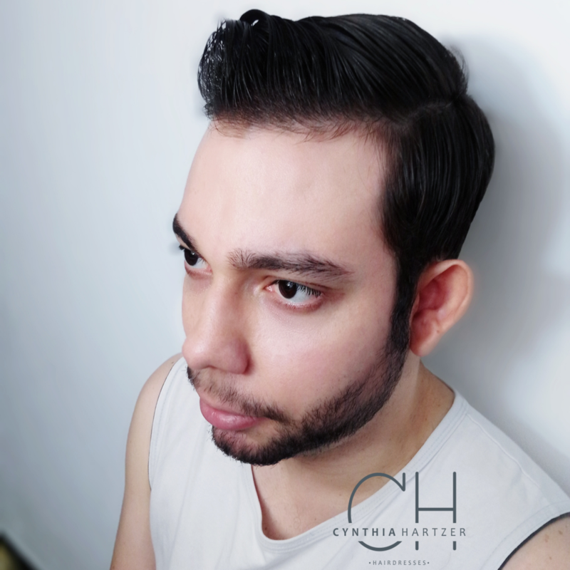 Corte na tesoura + design de barba! cabelo cabeleireiro(a)