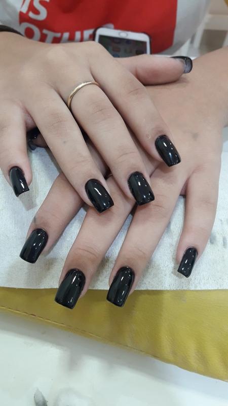 Alongamento em gel moldado  unha manicure e pedicure