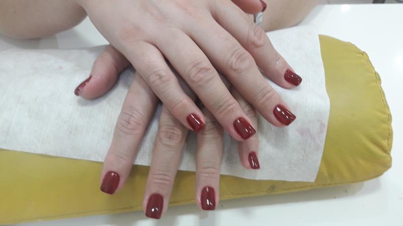 Alongamento com tips   unha manicure e pedicure