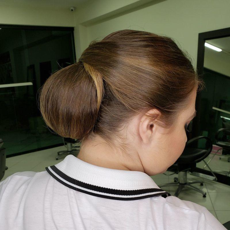 Coque clássico cabelo cabeleireiro(a)