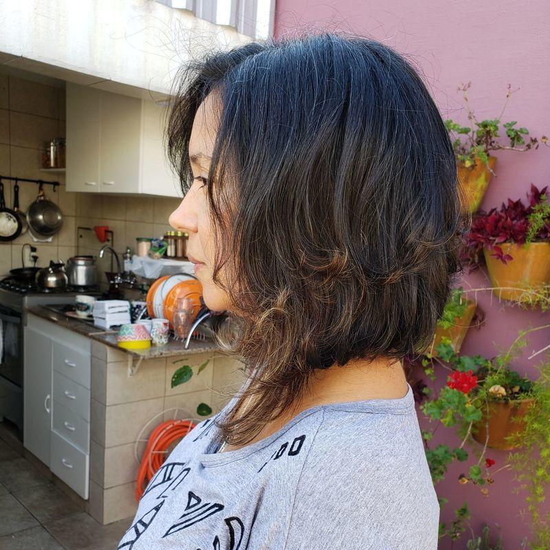 Corte bob diagonal cabelo cabeleireiro(a)