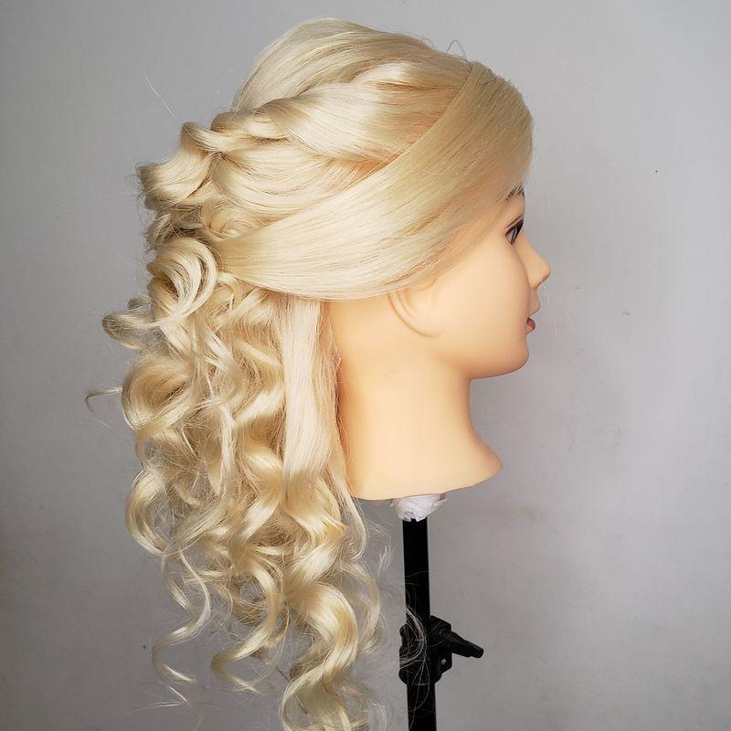 Penteado meio presso de cachos cabelo cabeleireiro(a)