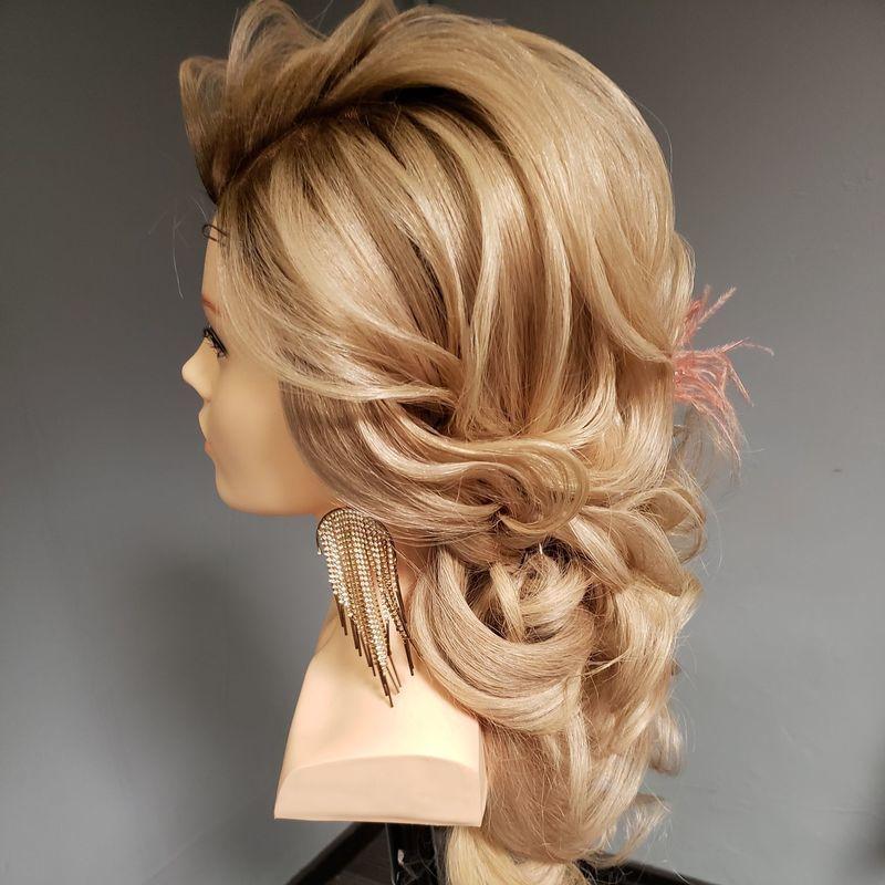 Penteado com técnicas russas cabelo cabeleireiro(a)
