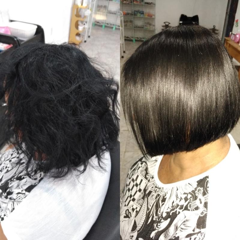 Alinhamento térmico e corte.  Plástica dos fios 💇💢 cabelo maquiador(a) designer de sobrancelhas cabeleireiro(a) escovista depilador(a)