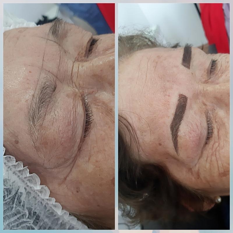 Micropigmentação esfumada outros designer de sobrancelhas maquiador(a) micropigmentador(a)