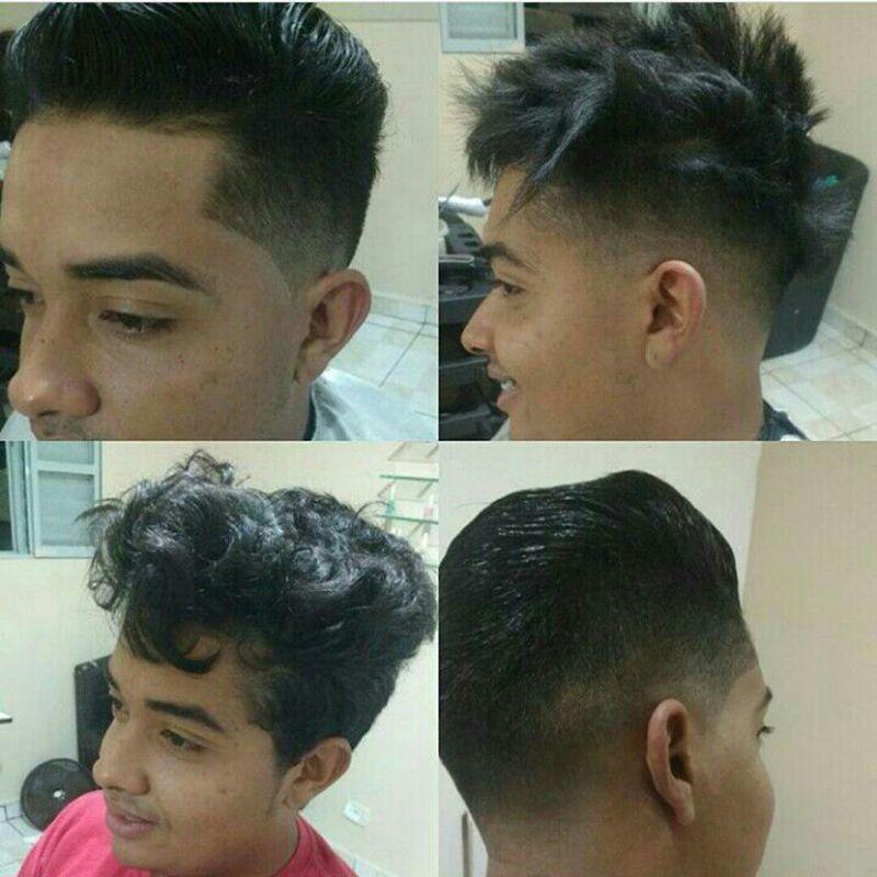 Antes e depois cabelo auxiliar cabeleireiro(a) barbeiro(a)