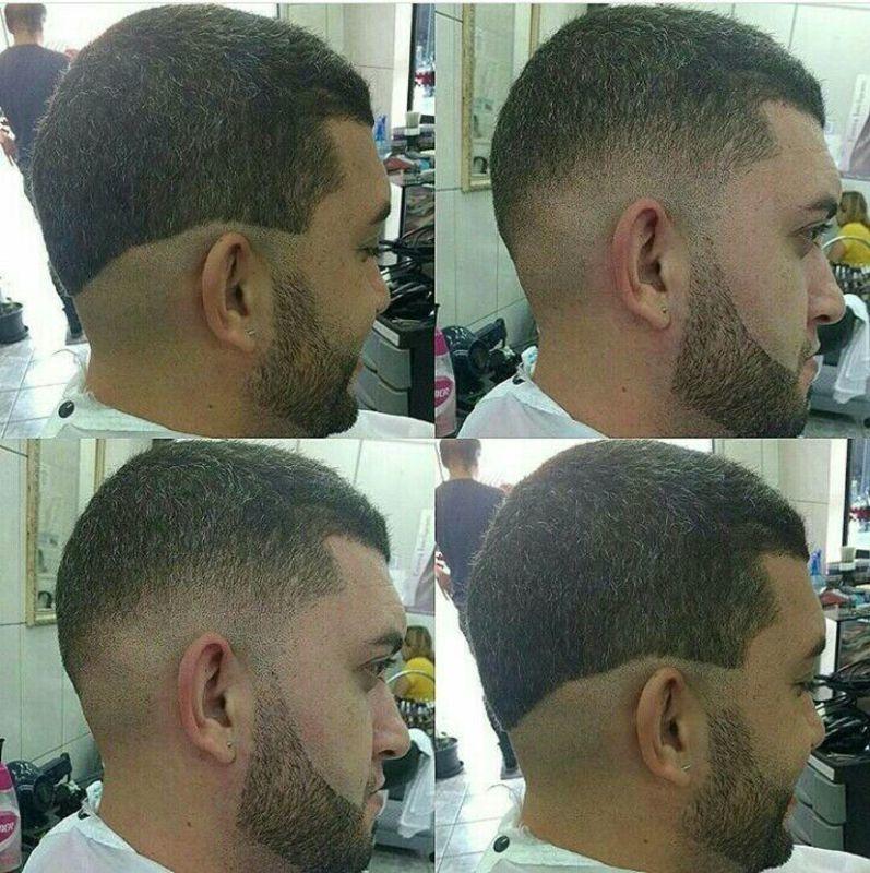 Antes e depois, cabelo e barba. auxiliar cabeleireiro(a) barbeiro(a)