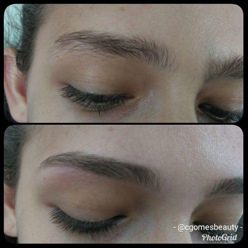 Design de sobrancelhas estética maquiador(a) auxiliar cabeleireiro(a) designer de sobrancelhas