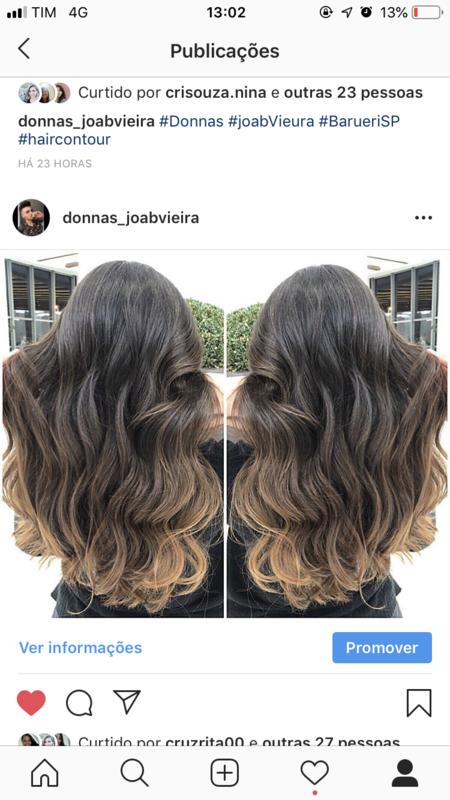 Morena iluminada tom canela  cabelo cabeleireiro(a)