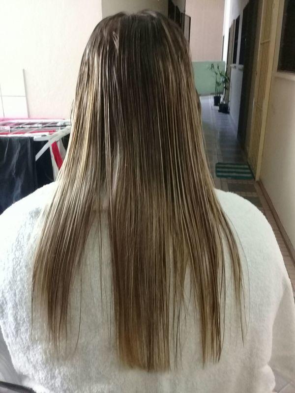 Progressova antes e corte de pontas antes cabelo auxiliar cabeleireiro(a)