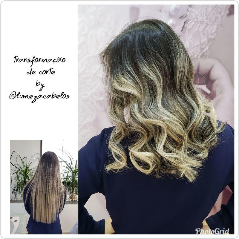Transformação de corte cabelo cabeleireiro(a)