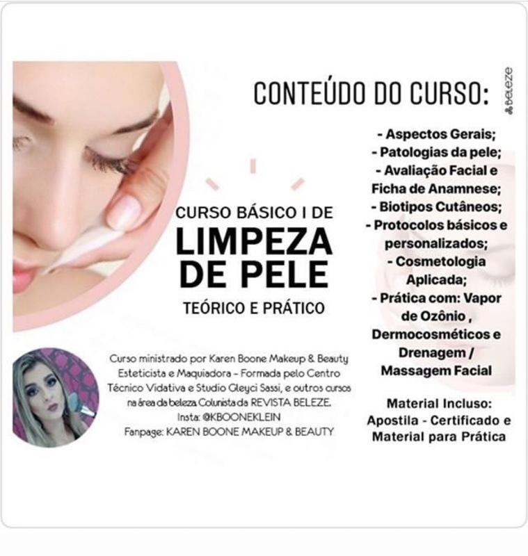 Curso Limpeza de Pele #cursolimpezadepele estética esteticista maquiador(a)