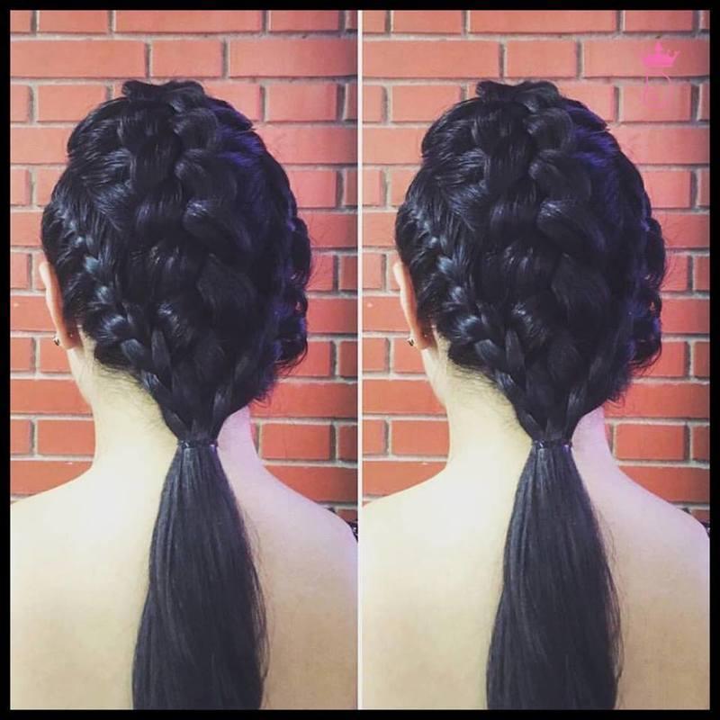 Penteado com tranças. cabelo maquiador(a)
