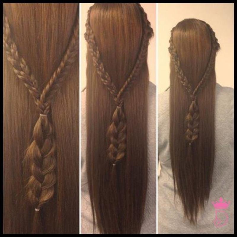 Penteado com trança. cabelo maquiador(a)