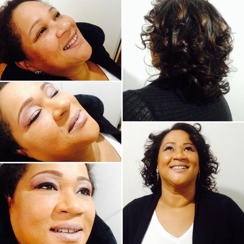 Maquiagem em pele madura e modelagem dos cabelos. maquiagem maquiador(a)