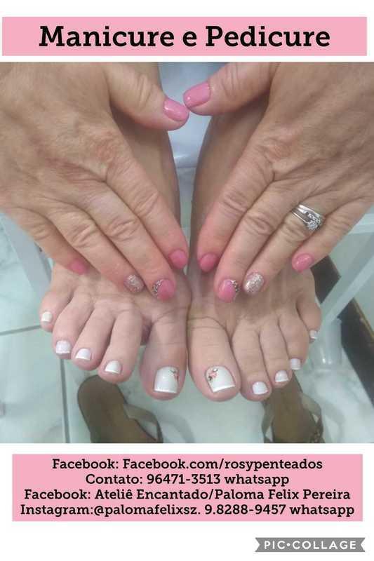 Manicure e Pedicure feita em noiva unha maquiador(a) designer de sobrancelhas depilador(a)