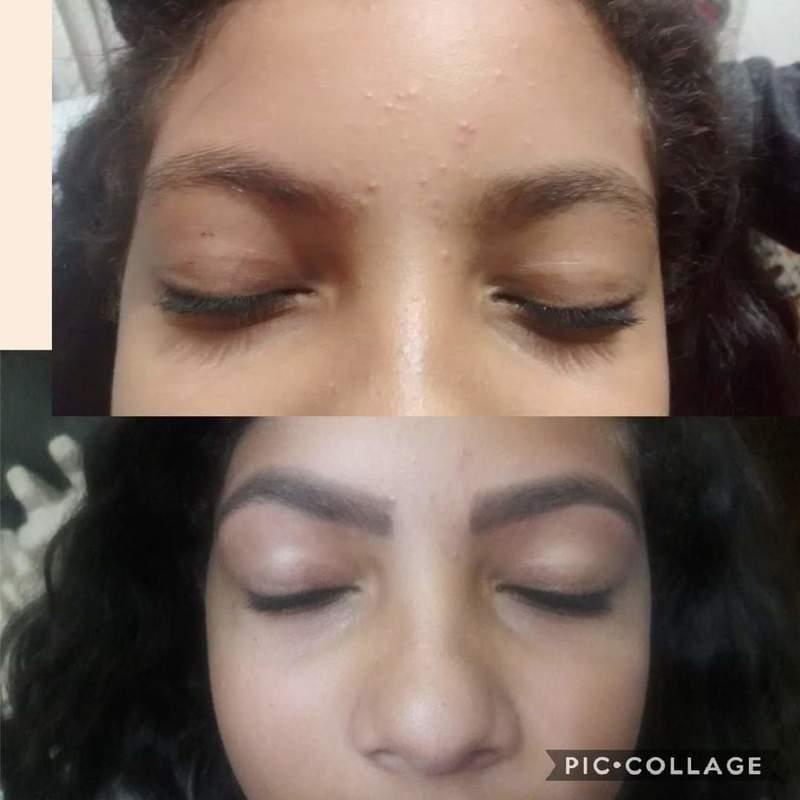 Antes e depois de design de sobrancelhas maquiador(a) designer de sobrancelhas depilador(a)